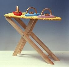 Wooden Ironing Board and Iron